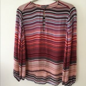 Michael Stars stripped silk over blouse. S